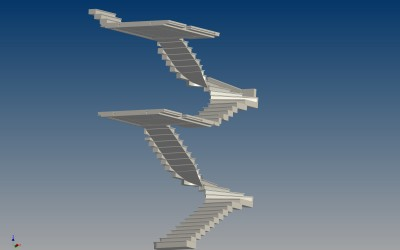 LH. FLYING STAIRCASE 3D IMAGE INV MODEL 03