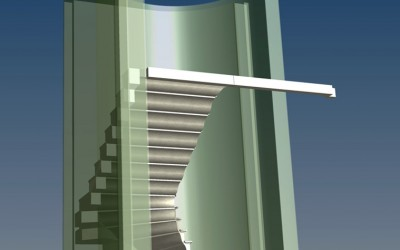 LH. MAIN STAIRCASE 3D IMAGE INV MODEL 02