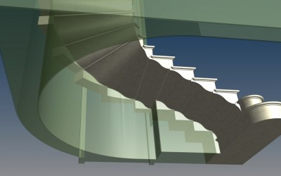 LH. MAIN STAIRCASE 3D IMAGE INV MODEL 03