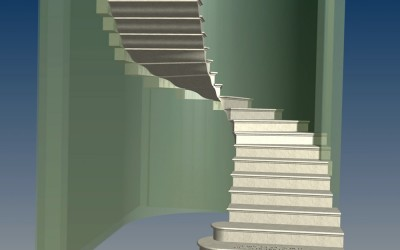 LH. MAIN STAIRCASE 3D IMAGE INV MODEL 04