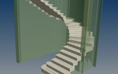 LH. MAIN STAIRCASE 3D IMAGE INV MODEL 05