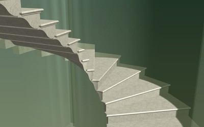 LH. MAIN STAIRCASE 3D IMAGE INV MODEL 06