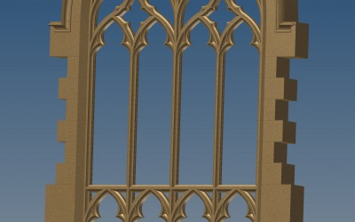 TRACERY WINDOW 3D IMAGE INV MODEL 01