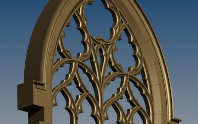 TRACERY WINDOW 3D IMAGE INV MODEL 02